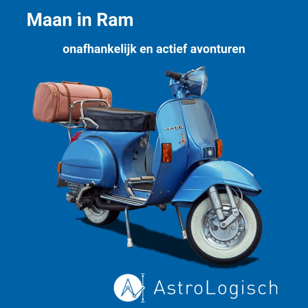 AstroLogisch, Maan in Ram, onafhankelijk, actief, avonturen, avonturier, Vespa