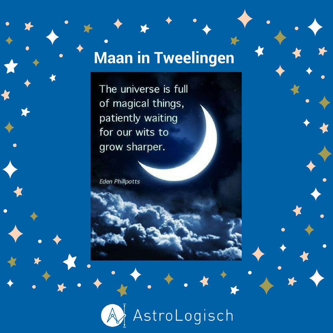 AstroLogisch Tweelingen Maan in Tweelingen