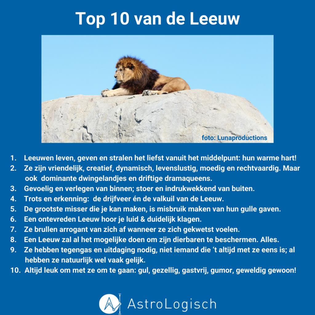 AstroLogisch Top 10 van de Leeuw