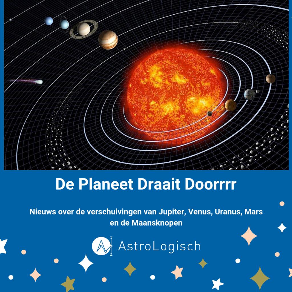 planeten, AstroLogisch, update, Venus, Jupiter, Maansknopen, zonnestelsel, sterren