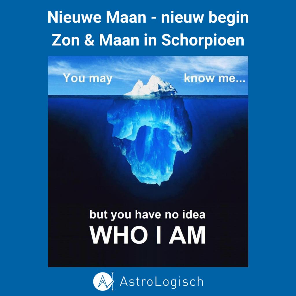 Nieuwe Maan, nieuw begin, Schorpioen, Zon & Maan