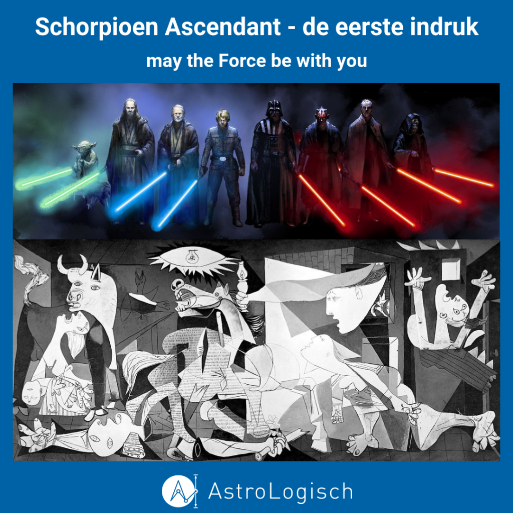 Schorpioen ascendant, good bad and ugly, force, goed en kwaad,
