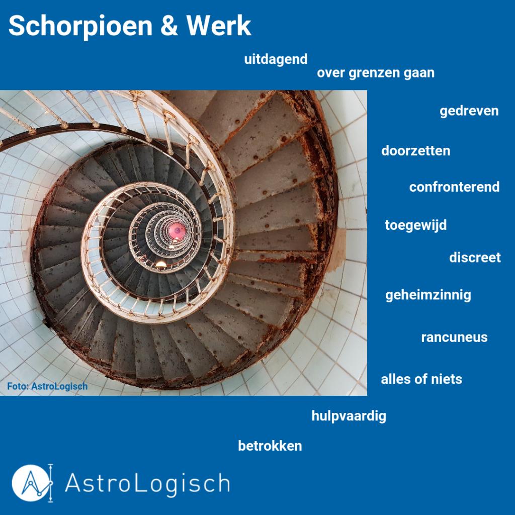 Schorpioen & Werk, alles of niets, gedreven, geheimzinnig, discreet, uitdagend, toegewijd