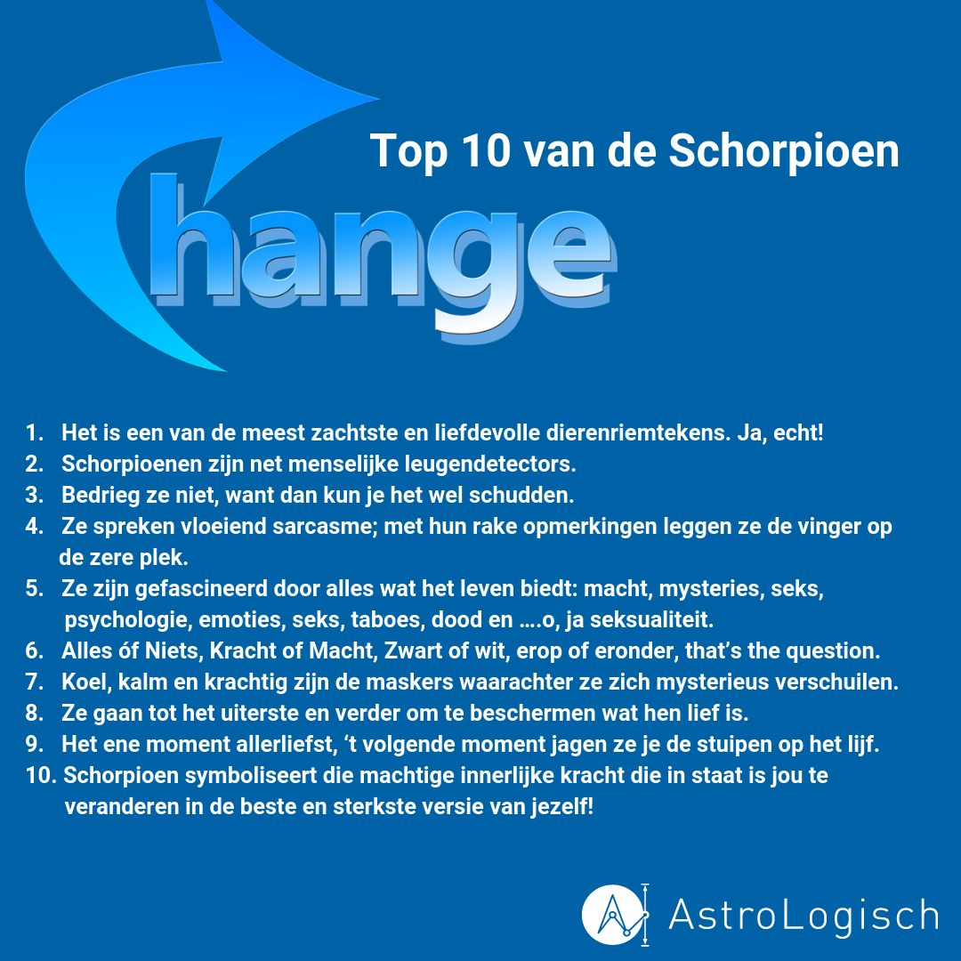 AstroLogische Top 10 van de Schorpioen