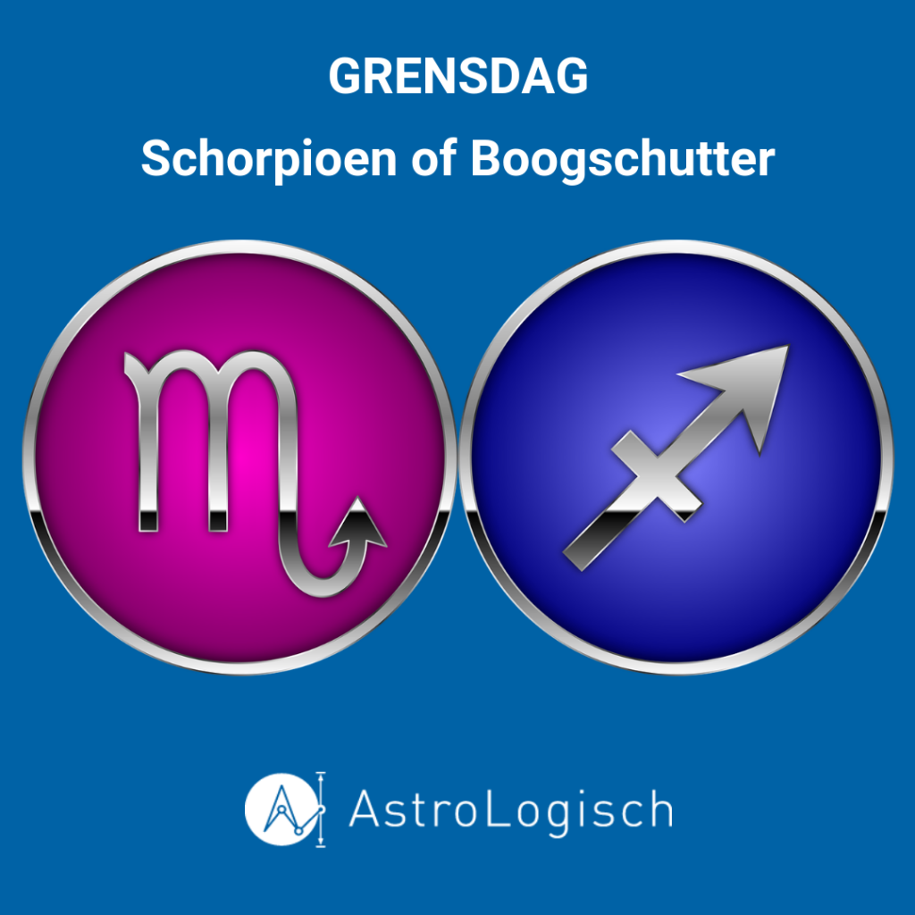 Grensdag, Boogschutter, Schorpioen, tijd, horoscoop, astrologie, AstroLogisch, geboortetijd