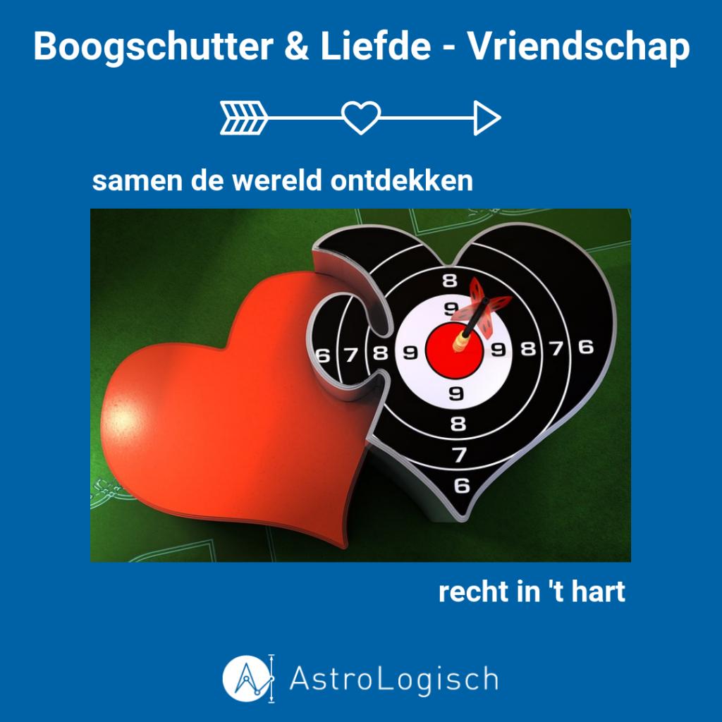 AstroLogisch, Boogschutter, Liefde en Vriendschap, Love, Friendship, friends, bulls eye, schot in de roos, richt in het hart