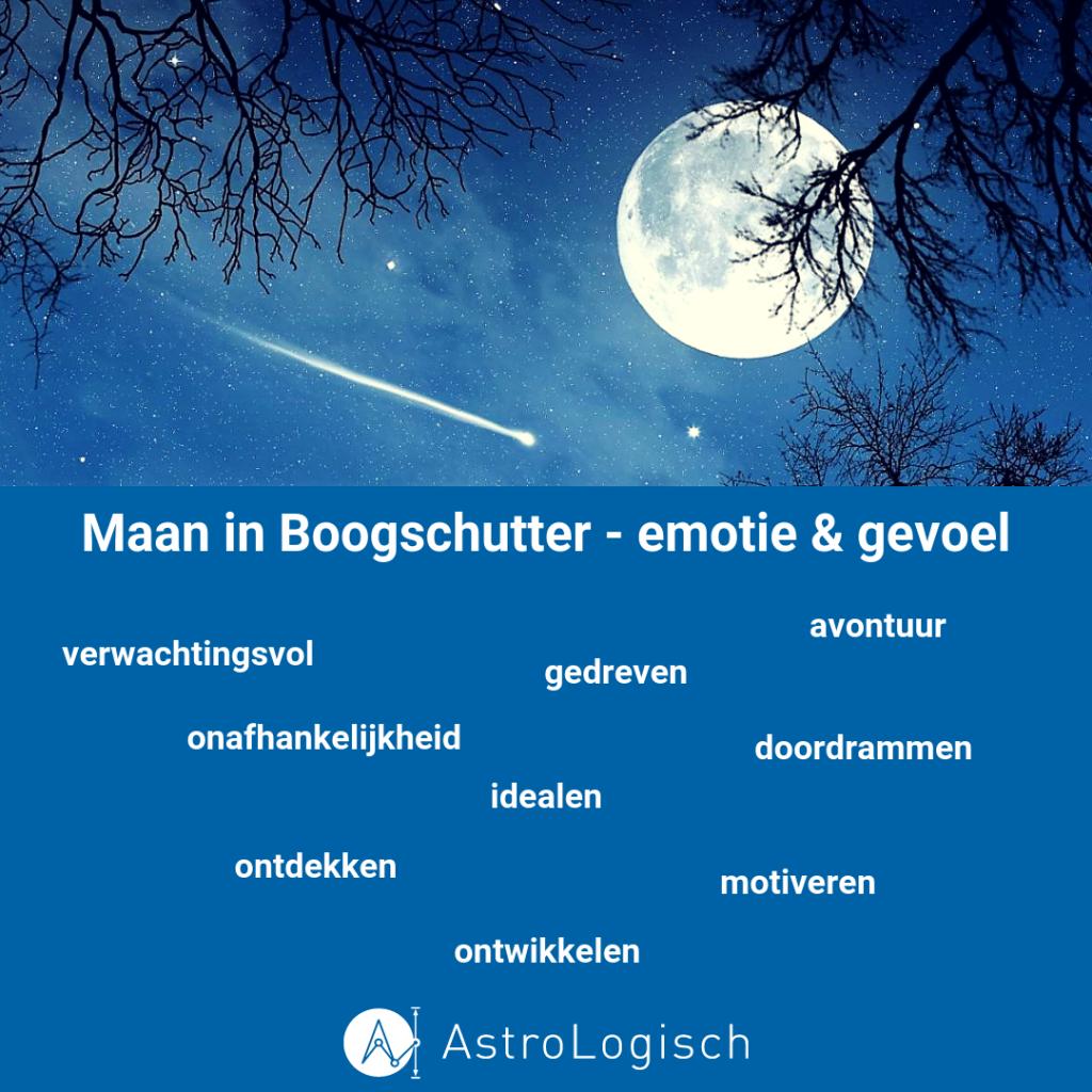 AstroLogisch, Maan in Boogschutter, emotie, gevoel, vrijheid, motivatie, idealen, gedreven, avontuur, ontwikkelen