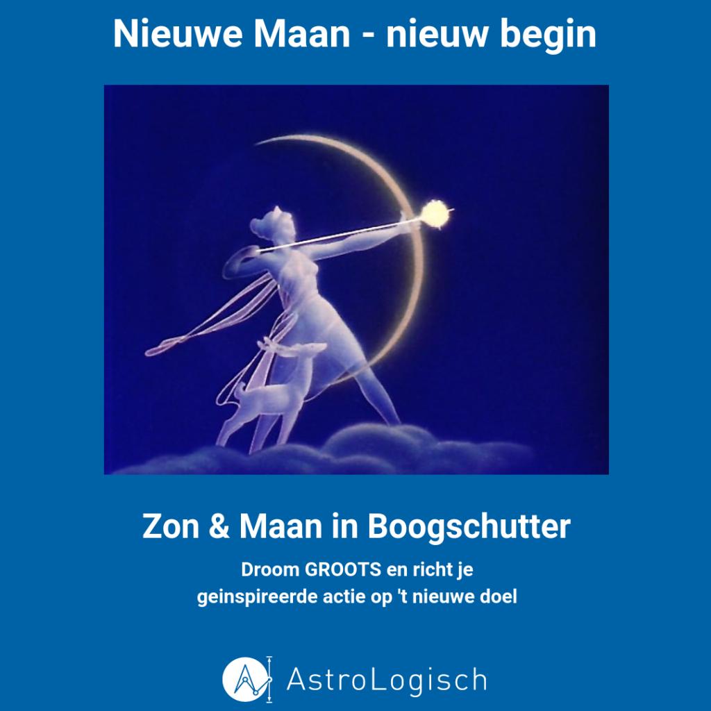 AstroLogisch, nieuwe maan, Boogschutter, nieuw begin, dream big, think big, experience big, grootse dromen, geïnspireerde actie, nieuwe doelen, richten