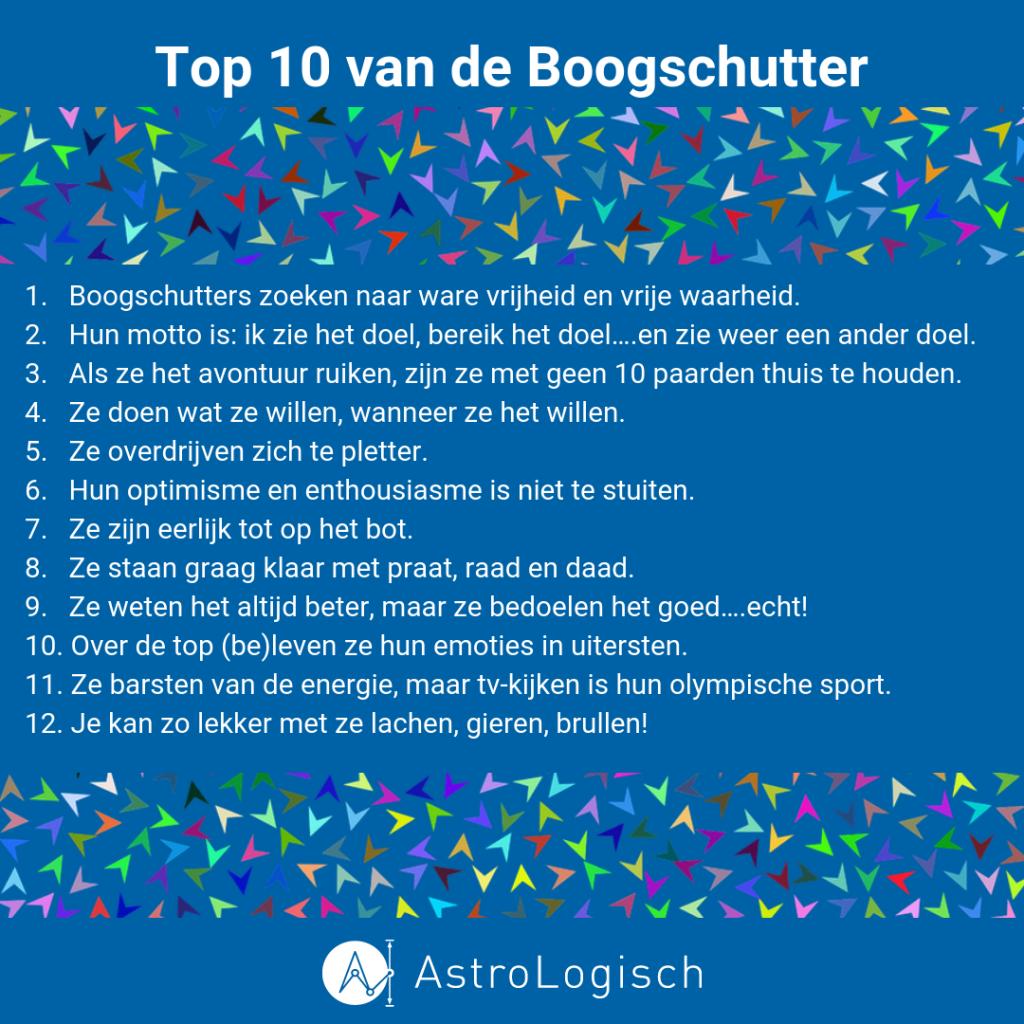 AstroLogische Top 10 van de Boogschutter
