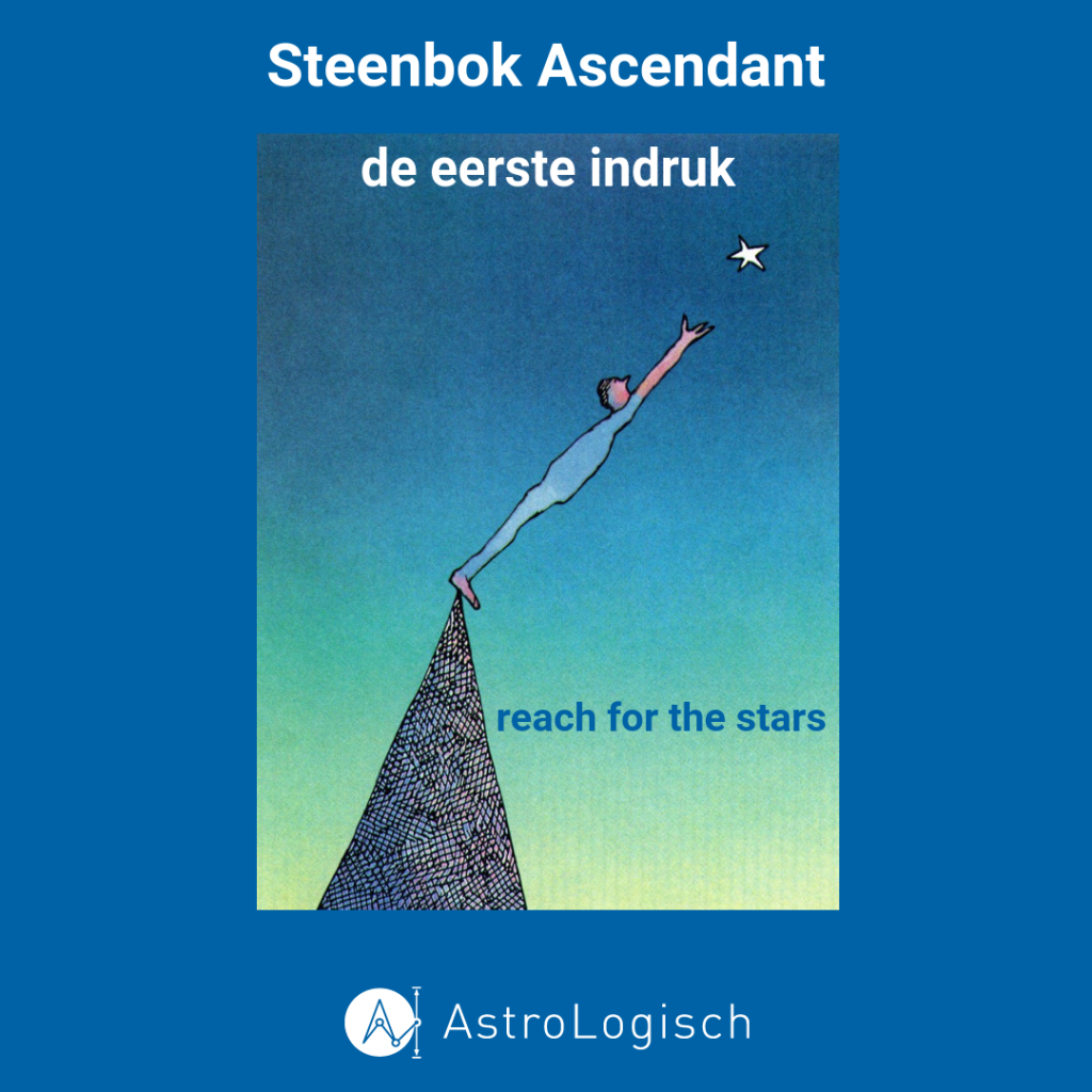 AstroLogisch Steenbok Ascendant, capricorn rising, ambitie, succes, reach for the stars