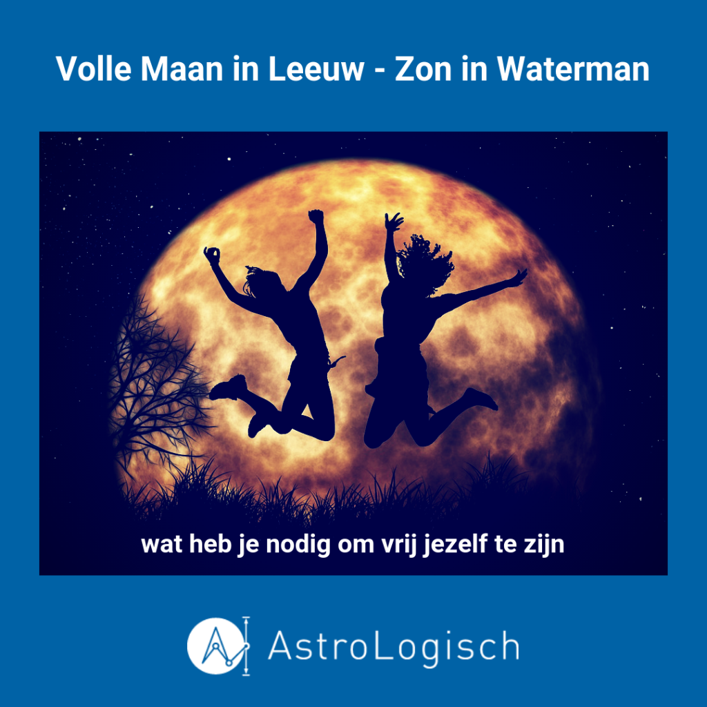AstroLogisch Volle Maan in Leeuw - Zon in Waterman