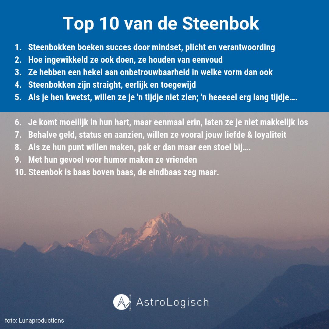 AstroLogische Top 10 Steenbok