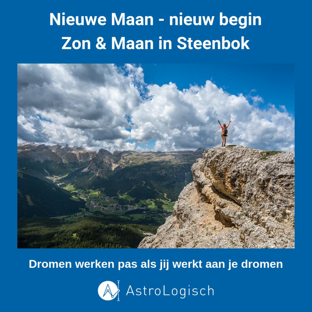 AstroLogisch Nieuwe Maan in Steenbok, nieuw begin, dromen, werken