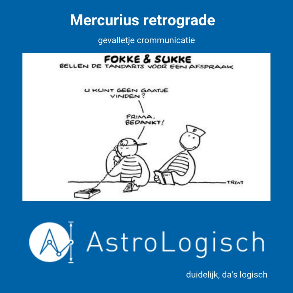 AstroLogisch Mercurius retrograde
