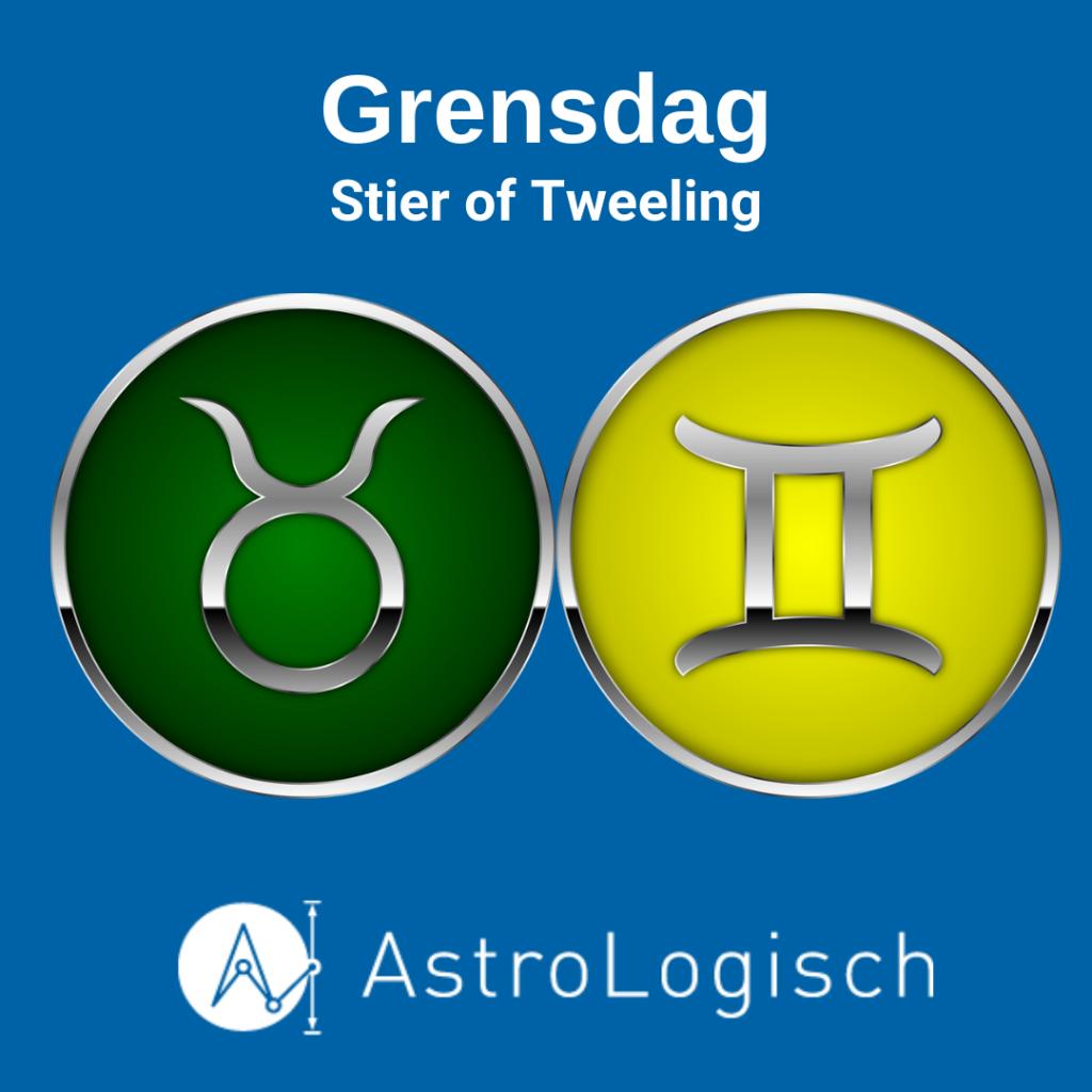 AstroLogisch Grensdag Stier of Tweeling
