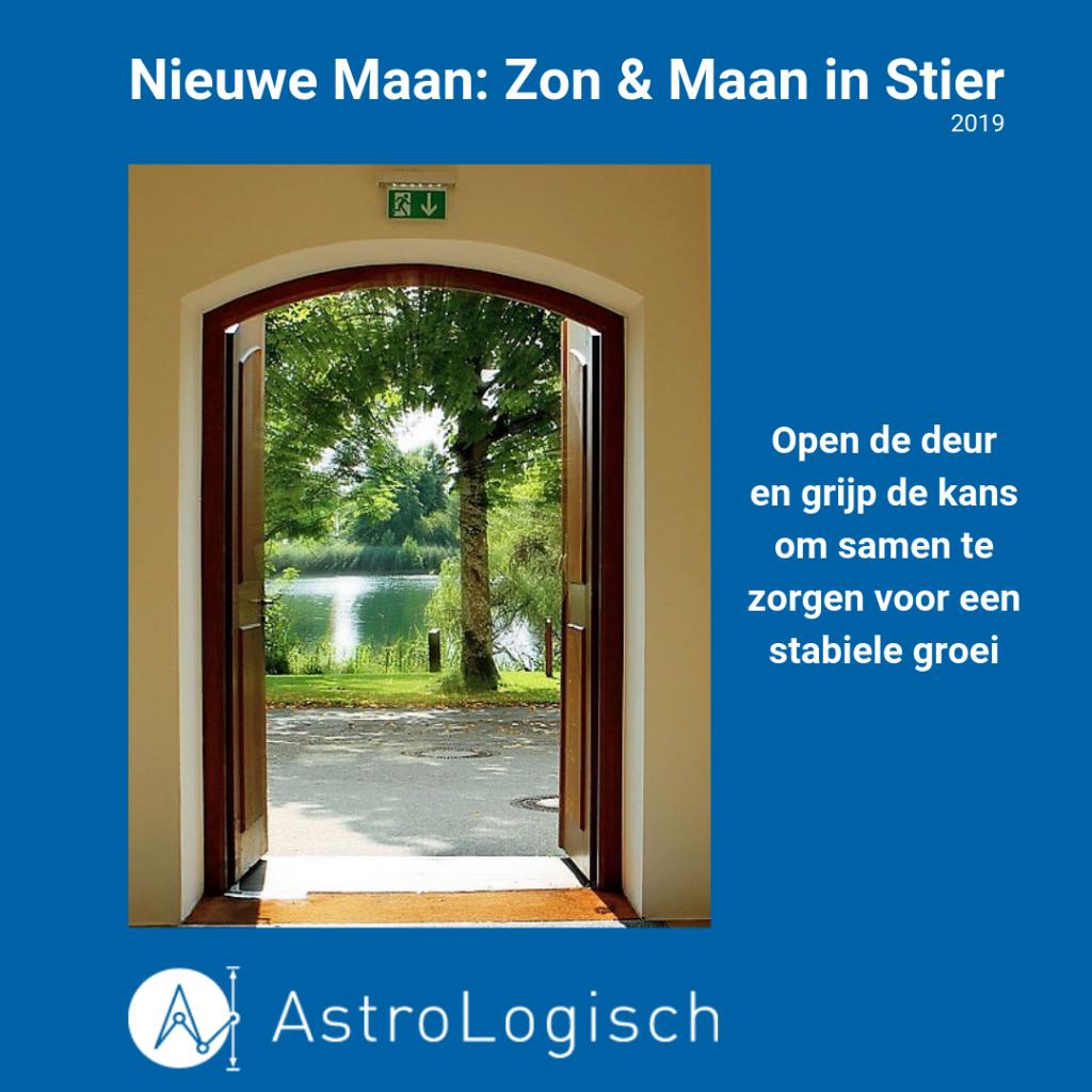 AstroLogisch Nieuwe Maan_ Zon & Maan in Stier 2019, kansen, stabiel, zorgzaam