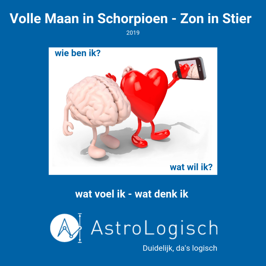 AstroLogisch Volle Maan in Schorpioen - Zon in Stier 2019