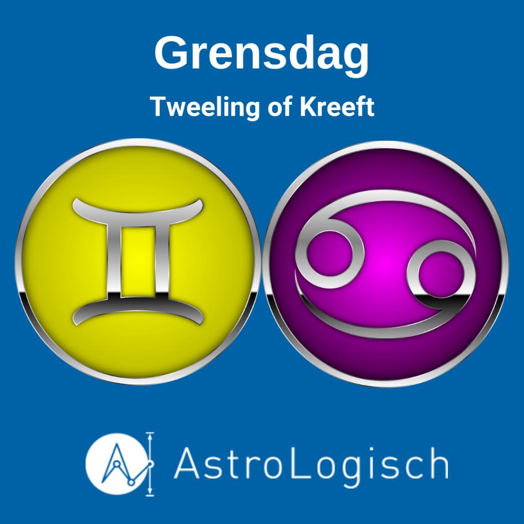 AstroLogische Grensdag Tweeling of Kreeft