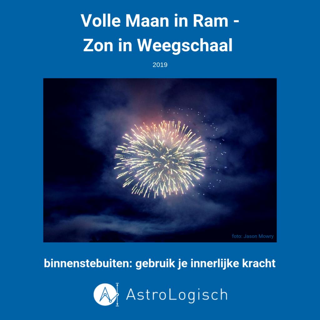 AstroLogisch Volle Maan in Ram - Zon in Weegschaal 2019