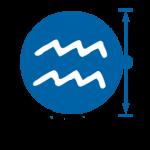 Aquarius logo zonder naam