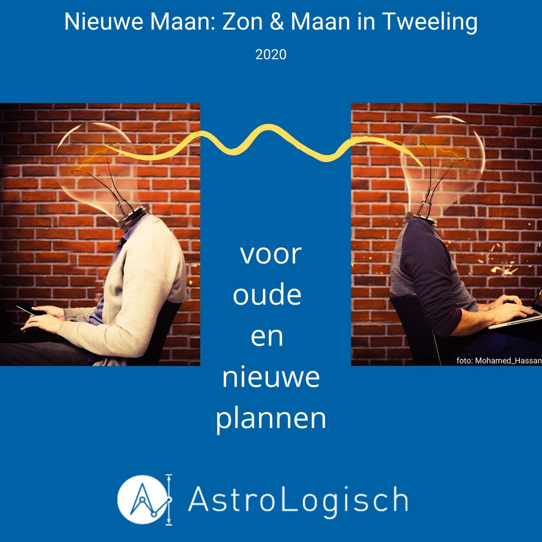 AstroLogisch Nieuwe Maan_ Zon & Maan in Tweeling 2020