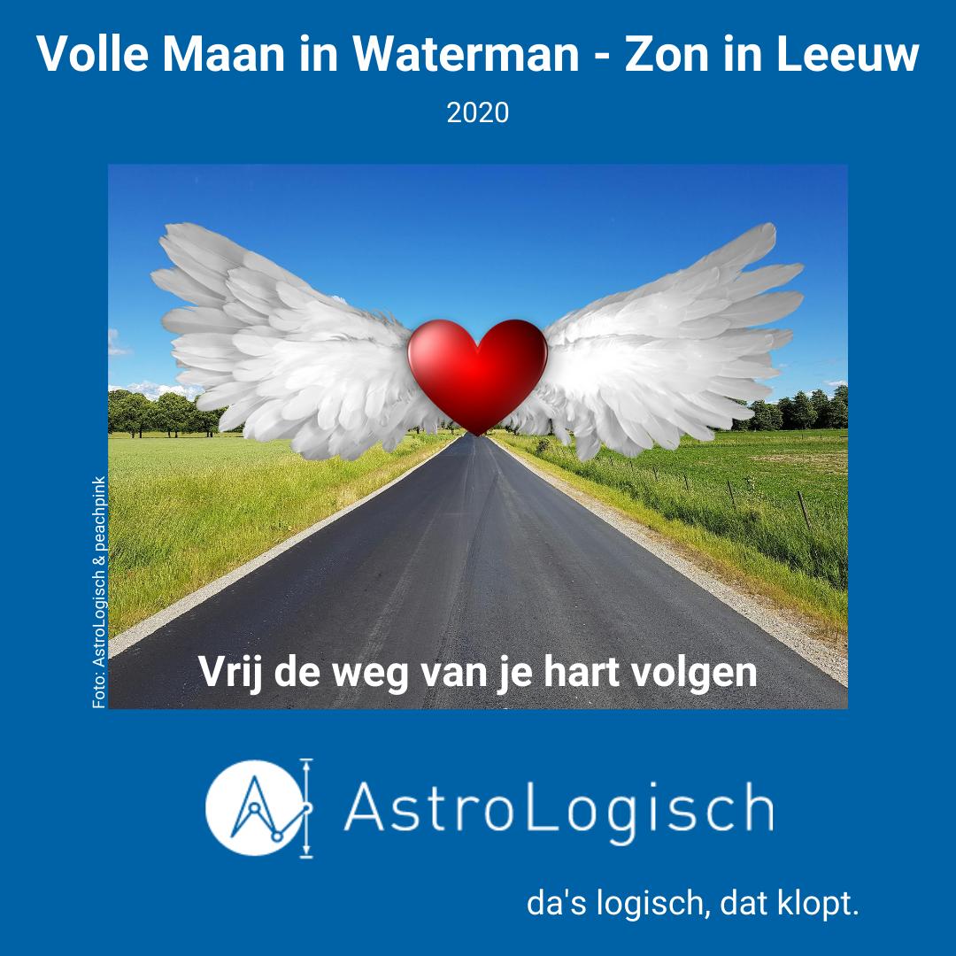 AstroLogisch Volle Maan in Waterman - Zon in Leeuw 2020