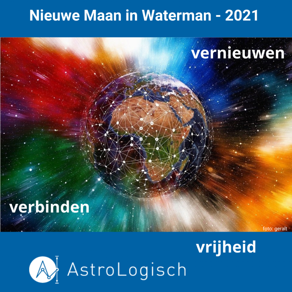 AstroLogisch Nieuwe Maan in Waterman - 2021
