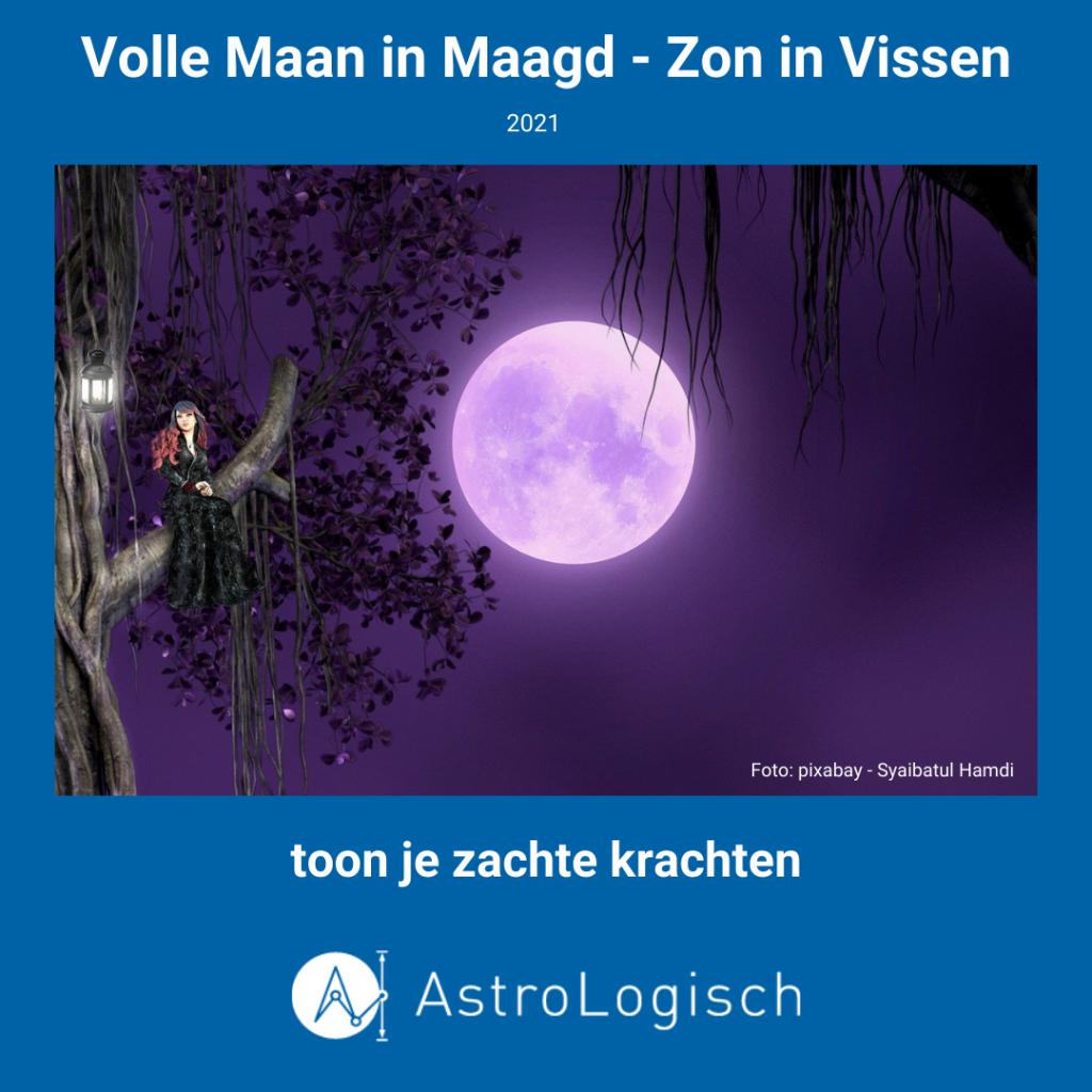 AstroLogisch Volle Maan in Maagd - Zon in Vissen - 2021