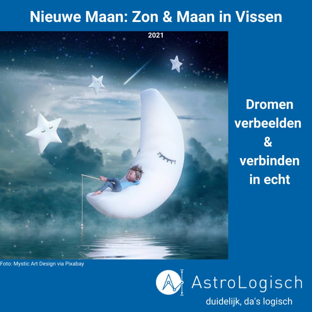 AstroLogisch Nieuwe Maan in Vissen - 2021