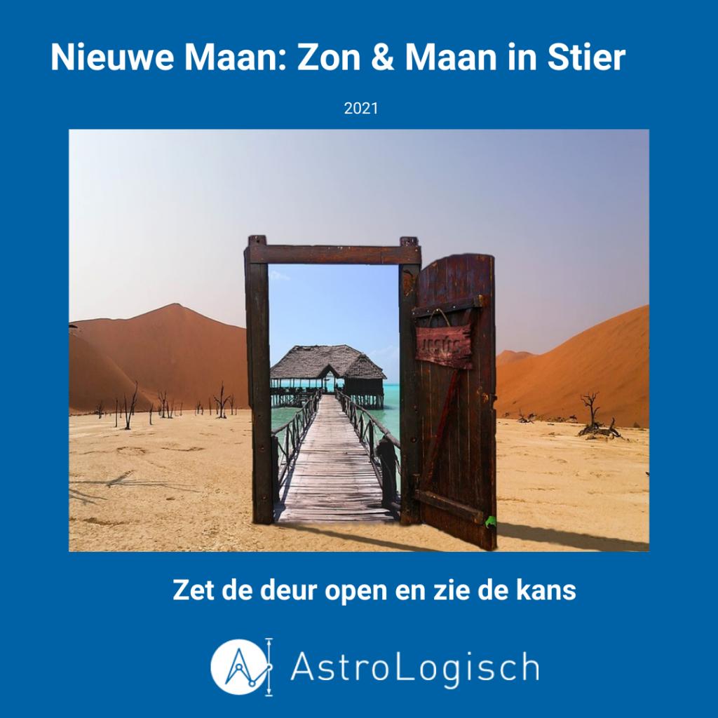 AstroLogisch Nieuwe Maan Zon & Maan in Stier - 2021