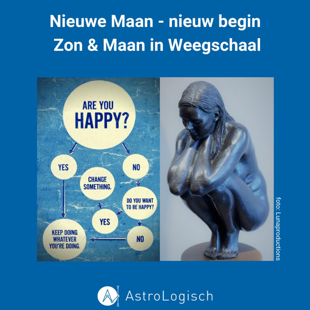 nieuwe maan, nieuw begin, zon & maan in weegschaal, happy, love, peace, happiness, transformatie, vlinder