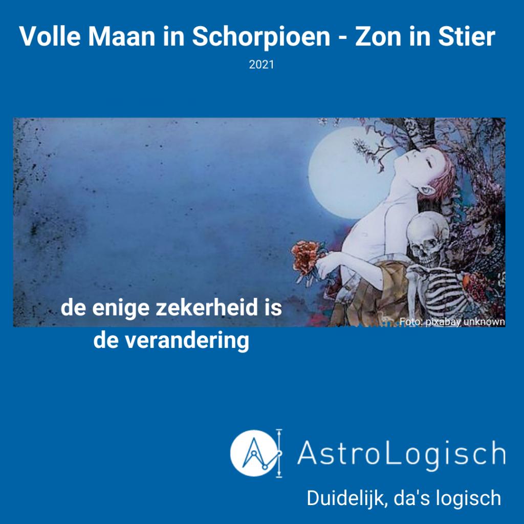 AstroLogisch Volle Maan in Schorpioen - Zon in Stier - 2021