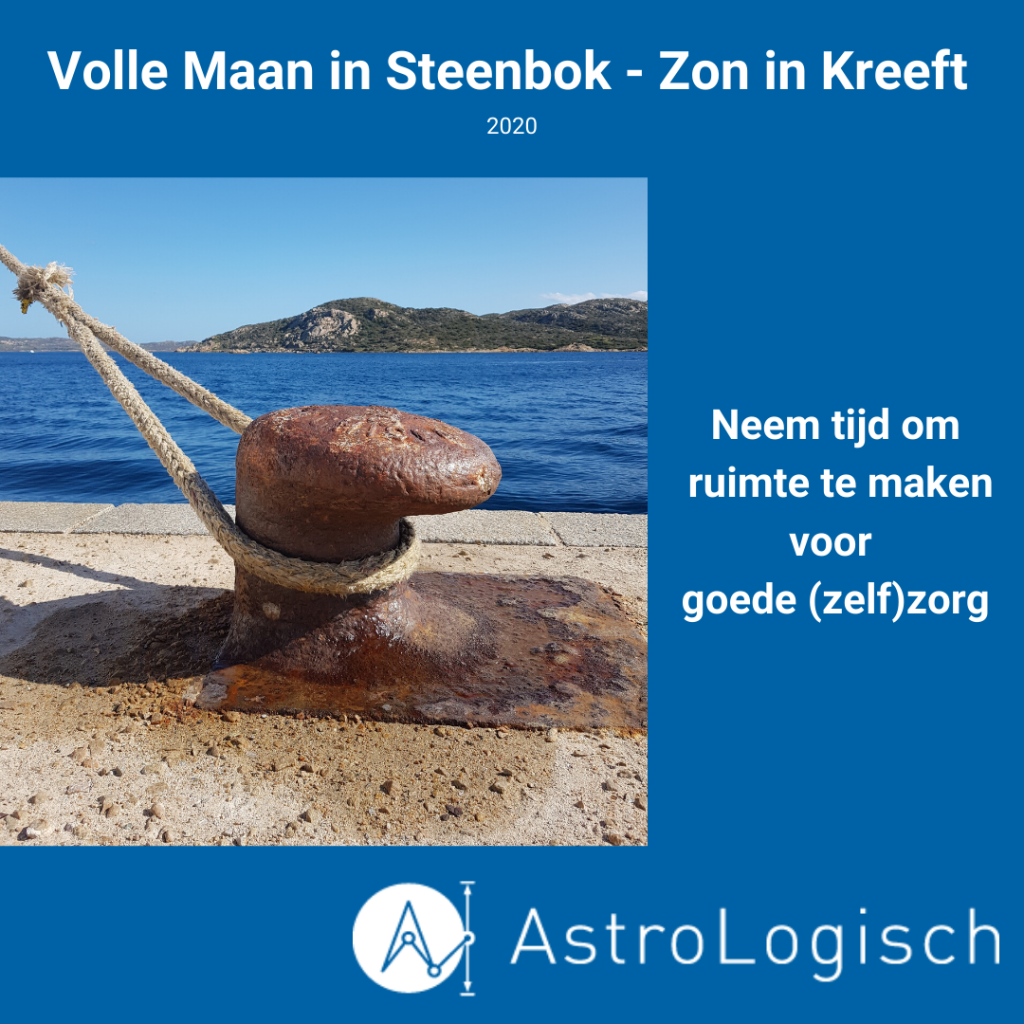 AstroLogisch Volle Maan in Steenbok - Zon in Kreeft 2020