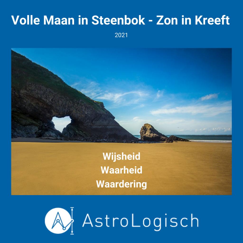 AstroLogisch Volle Maan in Steenbok - Zon in Kreeft - 2021
