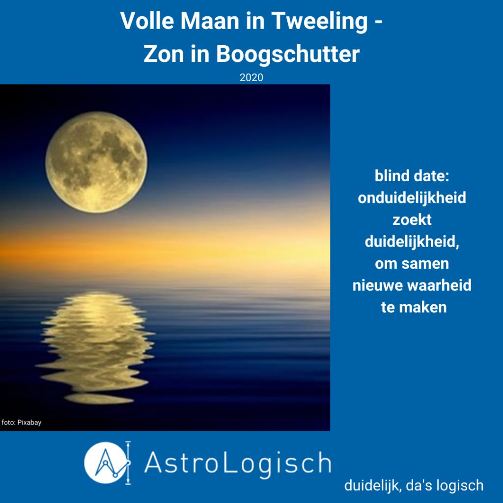 AstroLogisch Volle Maan in Tweelingen -Zon in Boogschutter 2020