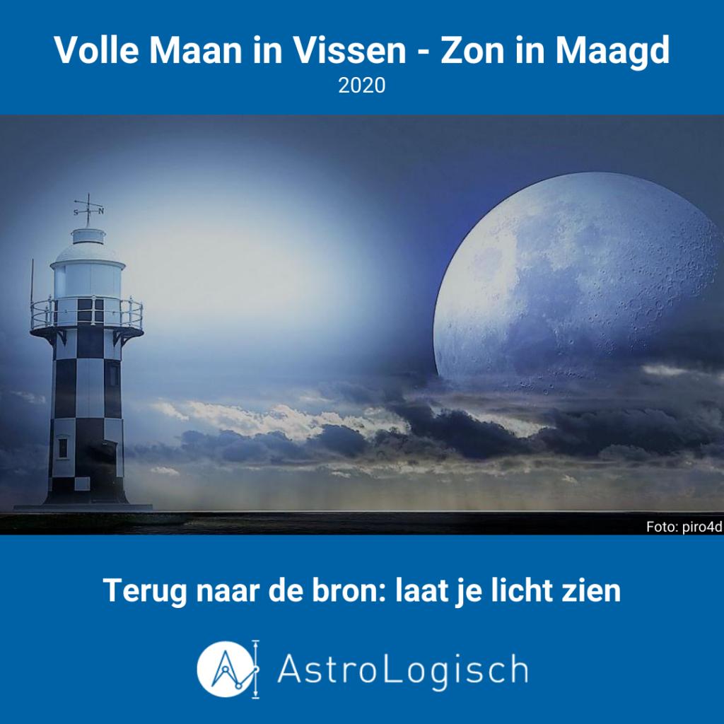 AstroLogisch Volle Maan in Vissen - Zon in Maagd 2020